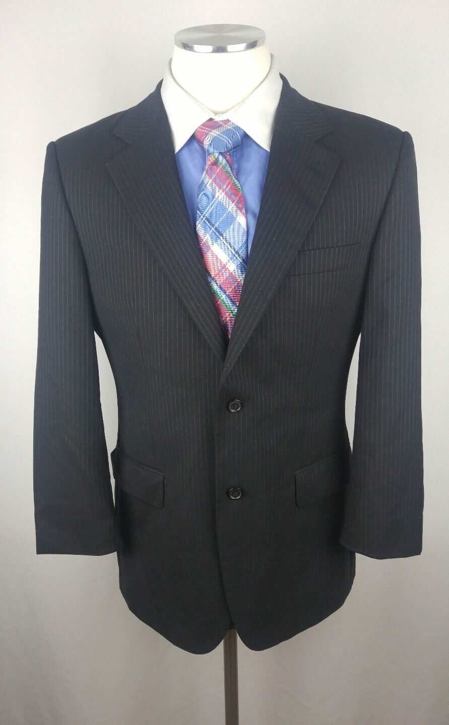 HUGO BOSS Navy bluee Pinstripe Super 100 finest Quality Sport Coat Blazer 42S