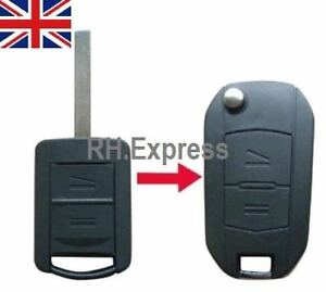 New-For-Vauxhall-Corsa-Meriva-Combo-Opel-2-Button-Key-Fob-Case-Conversion-A14