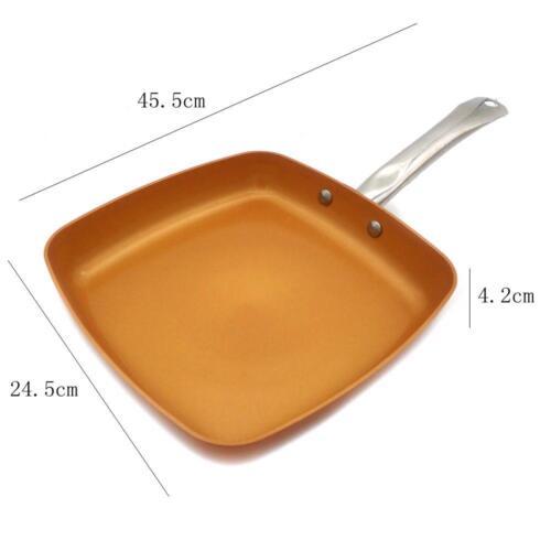8//10//12 non-Stick Cuivre Poêle revêtement céramique induction cuisson four