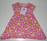 Baby Lulu Girls Floral Ruffle Dress 100% Cotton 2t Or 3t