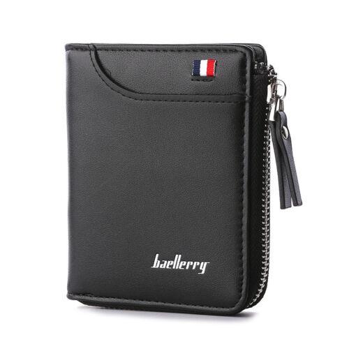 Baellerry Wallet Men Leather Men Wallets Purse Short Male Clutch Money Bag