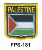 2-1/2'' X 2-3/4 Palestine Flag Embroidered Shield Patch