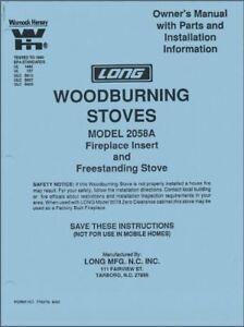 Silent Flame Wood Stove Manual Long Mfg Warnock Helsey