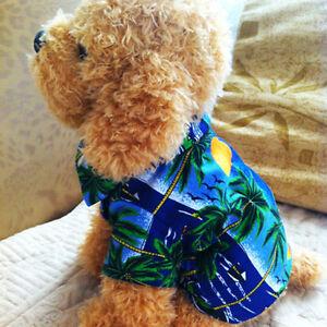 Image Is Loading Pet Dog Beachwear Summer Clothes Hawaiian T Shirt