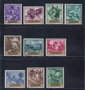 ESPANA-1964-MNH-NUEVO-SIN-FIJASELLOS-EDIFIL-1566-75-PINTURAS-SOROLLA