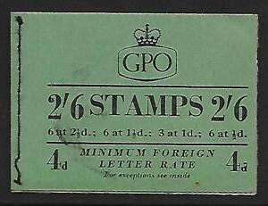 F13 2/6 GPO booklet - Feb 1954 with 'SHORTHAND' pane UNMOUNTED MINT/MNH