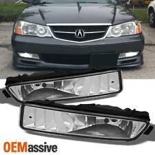 99-03 Acura TL Sedan Front Bumper Driving Fog Lights Lamps w/Bulbs Left+Right