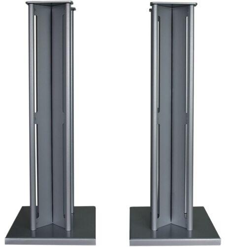 Partington Ansa 60 Speaker Stands Pair Silver Loudspeaker RRP £179.95