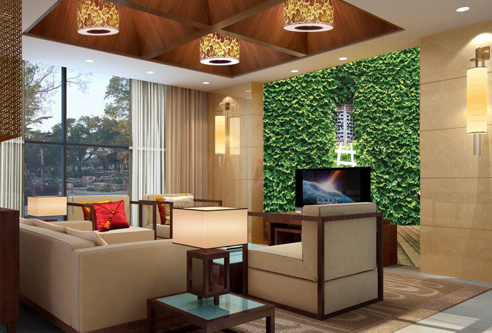 3D greenes Rebe Fenster 97 Tapete Wandgemälde Tapete Tapeten Bild Familie DE