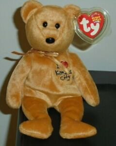 Bear State Exclusive Ty Beanie Baby Kansas I Love MWMT