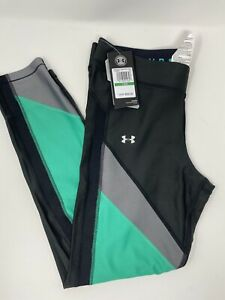 Under-Armour-Color-Block-Ankle-Crop-Tights-Women-Large-Heat-Gear-1305967-003-New