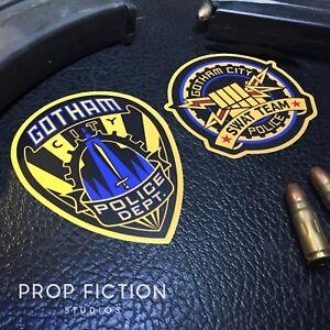 Batman Forever - Prop Gotham Police Equipment Stickers / Set Dressing Decals