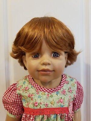 "Handmade WIG ONLY NWT Monique Chubba Curly Dark Brown Boy Doll Wig 16-17/"""