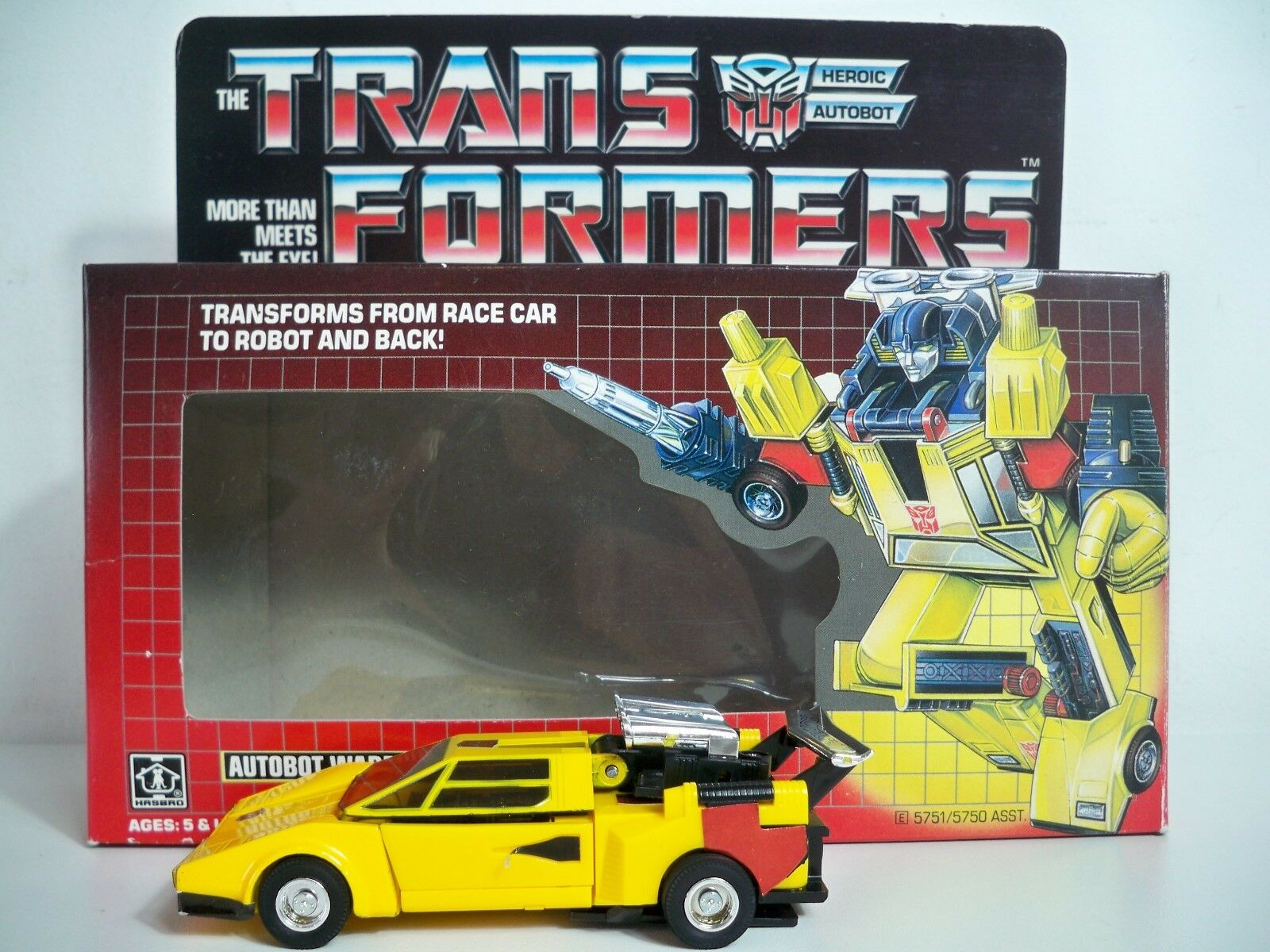 K1905202 SUNSTREAKER W BOX & INSTRUCTIONS COMPLETE G1 TRANSFORMERS 1984 VINTAGE