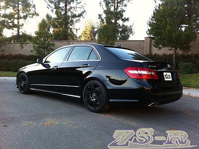 E63AMG Type Trunk Spoiler For W212 E250 E350 E550 4Dr Painted 197 Obsidian Black