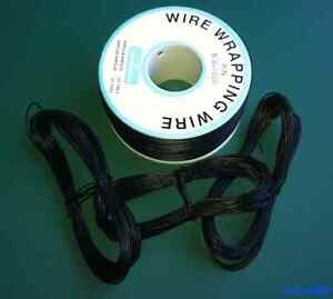 10 metros Cable AWG30 NEGRO 30AWG (puentes, etc.) Rigido - WRAPPING WIRE BLACK B