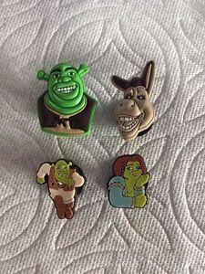 Mon ChéRi Shrek Chaussure Breloques Pour Crocs Shrek Bouchent Charms Shrek Fiona Donkey Shoe Charms-afficher Le Titre D'origine