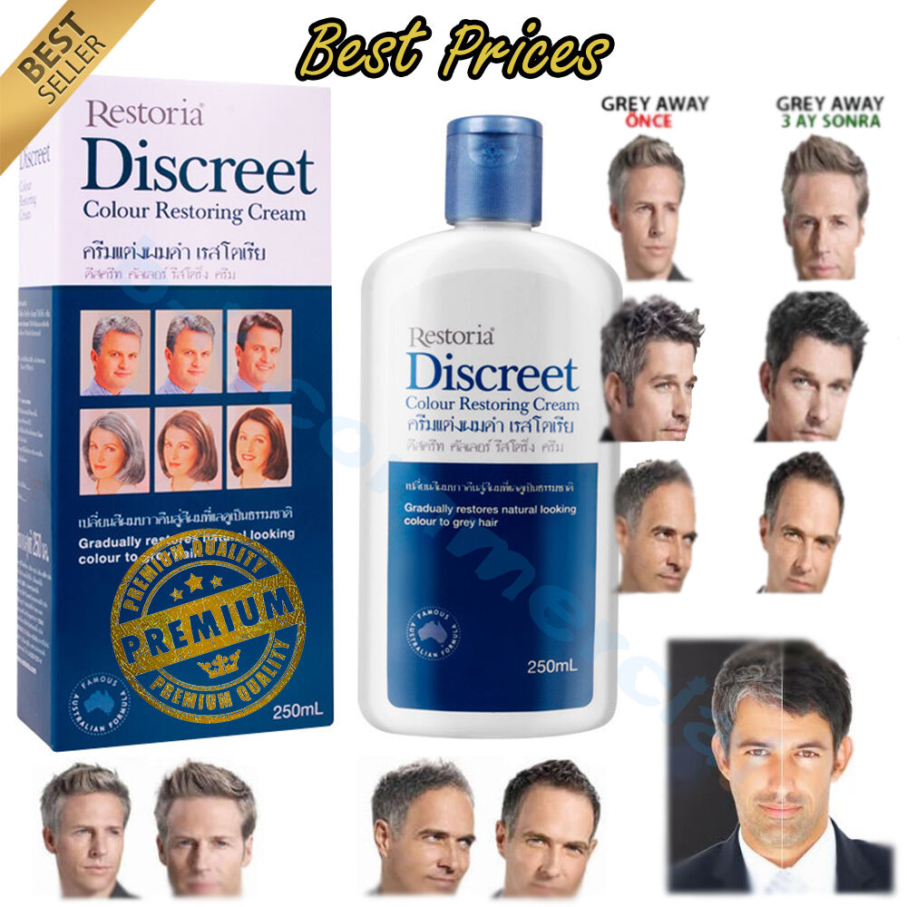 1d2bd5a9c2a6 Details about Restoria Discreet Hair Colour Restoring Reverse Youth Cream  250ml Best Seller ++