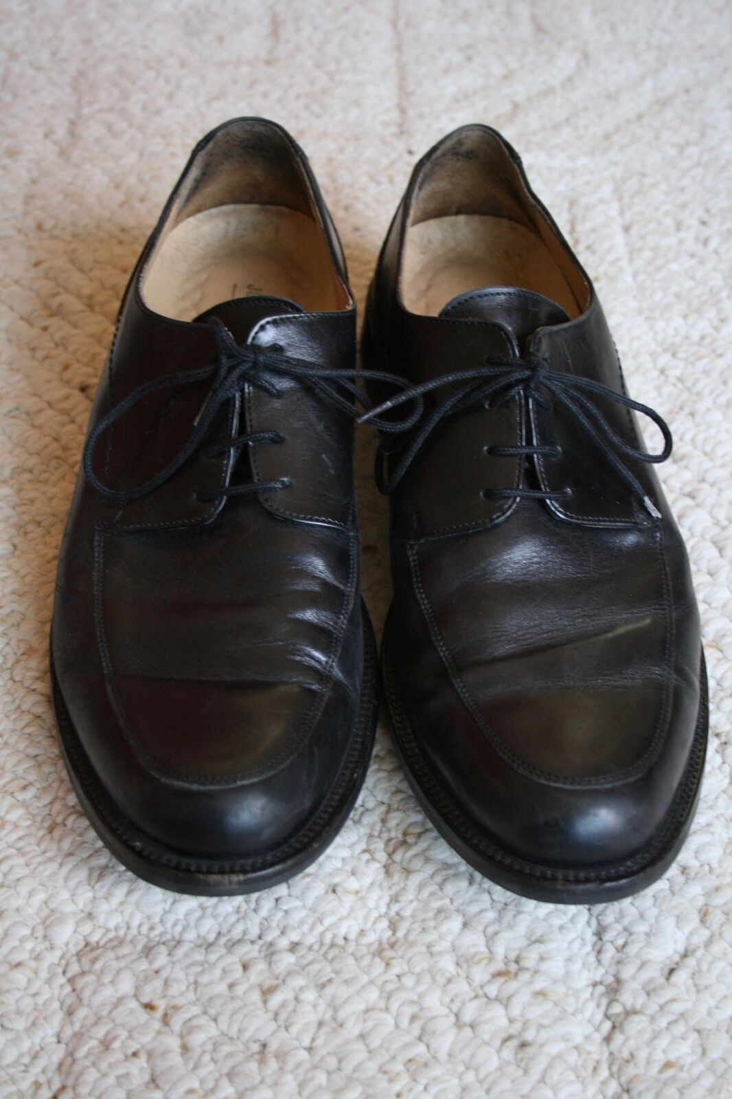Johnston Murphy Negro Signature Series Moc & Toe Oxford Zapatos para hombre 10 M