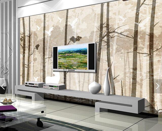 3D Forest Tree Bird 8 Wall Paper Murals Wall Print Wall Wallpaper Mural AU Lemon