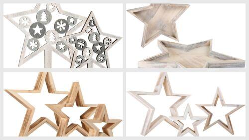 Decorative Star Christmas Motif Star Plate Figures Xmas Decor Wood DecorationNEW