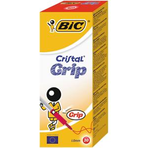 Bic Cristal Grip RED Biro Ballpoint 1.0mm SMOOTH WRITING *CHOOSE FROM MENU*