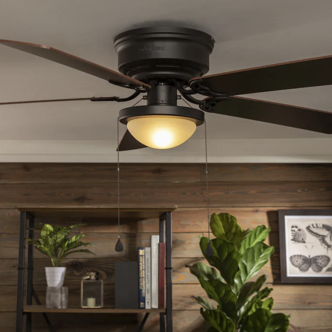 112cm 44 Flush Mount Outdoor Ceiling Fan Without Light Fanimation Hugh Bronze For Sale Online Ebay