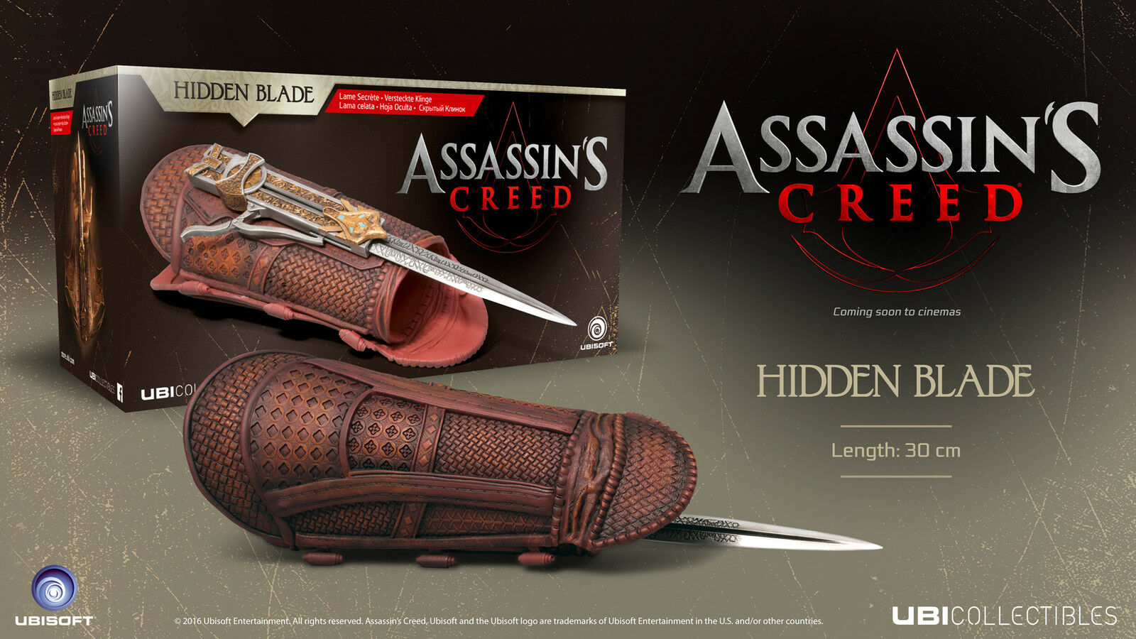 ASSASSIN'S CREED Hidden Blade Lama Celata Assassin Creed Movie