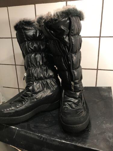 Diavolezza, Linda schwarze Stiefel, Futter, Geste, Reißverschluss, Winter, Stiefel, Größe 38