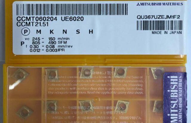 Tungaloy CCMT060204-PS CCMT21.51-PS NS530 Carbide Inserts NEW 10PC //BOX