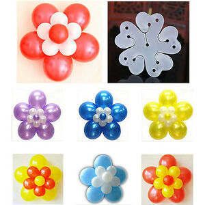 10,20,50pcs Balloon flower clips ties holder decorative Wall Decoration Party