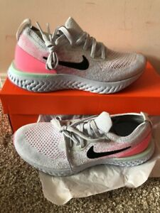 289a52cfd530b WOMEN S NIKE EPIC REACT FLYKNIT SHOES PURE PLATINUM AQ0070-007 SIZE ...