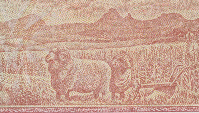 SOUTH AFRICA 1 Rand ND 1973-75  UNC  P116a  Wmk: Springbok  Two sheeps on back