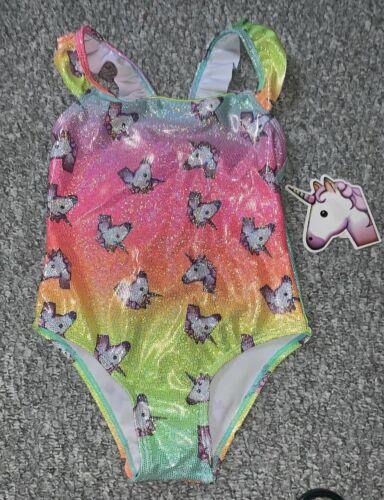 Little Girls Unicorn Design Swimming Costume Swimsuit Bathing Age 2-3years