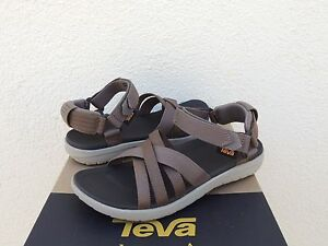 0c420e78c5e9 Image is loading TEVA-SANBORN-WALNUT-STRAPPY-SPORT-WATER-SANDALS-WOMENS-
