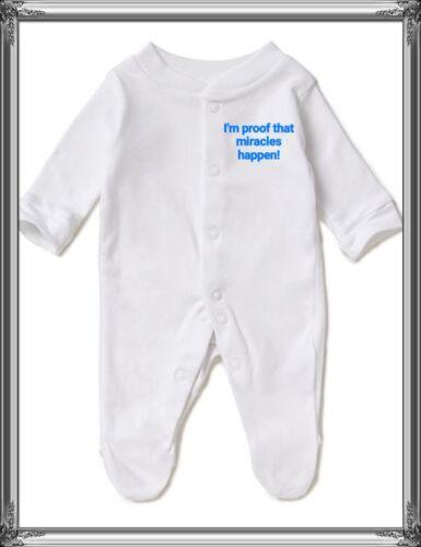 Personalizado Bordado Bebé Dormir Trajes recién Nacido Regalo cualquier mensaje bebé crezca