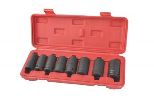 "8pcs 1//2/"" Drive Lug Nut Driver Wheel Lock Remover Tool Kit Socket Set Thin Wall"