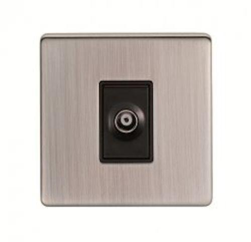 Screwless nickel satiné Standard ou DEL variateur lumière Cuisinière Ventilateur Commutateur Prises
