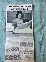 b2-6 ephemera 1963 picture carol whetman broadstairs library article