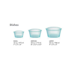 3PCS-Leakproof-Silicone-Reusable-Bag-Food-Storage-Container-Cup-Bowl-For-Picnics