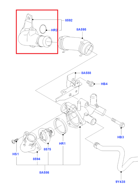 Genuine Ford Thermostat Water Outlet Connection 1373099 Ebay