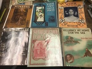MIXED LOT OF 6 VINTAGE SHEET MUSIC LOT 6 | eBay