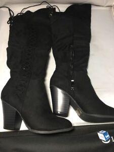 5c062475b22 Journee Collection Spritz Over The Knee Boot ‑ Women s ‑ Black Size ...