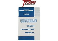 1958 Chevy Truck Owners Operators Manual
