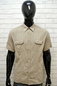 MARLBORO-CLASSICS-Uomo-Camicia-Camicetta-Manica-Corta-Maglia-Taglia-L-Shirt-Men