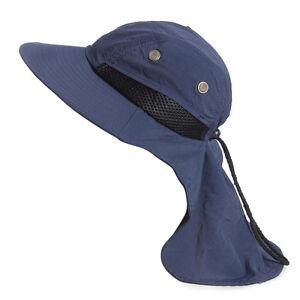 Neck Flap Boonie Hat Fishing Hiking Safari Outdoor Sun Brim Bucket ... 35d79e794823