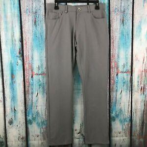 Calvin-Klein-Men-039-s-Infinite-Tech-Dress-Pants-Slim-Fit-Comfort-Stretch-Waist-Gray