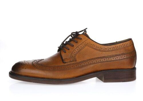 Details about  /JOHNSTON MURHY J M DECATURE Cognac Leather Wingtip Oxfords Heels Shoes Size 8.5