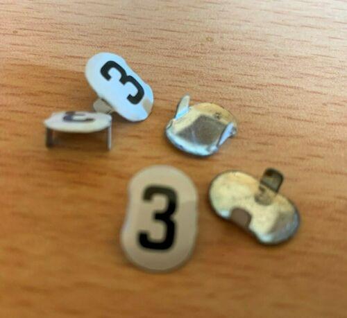 a3 1x  Schuco Startnummer 3 für Studio Rennauto Mercedes 1050 noch NEU