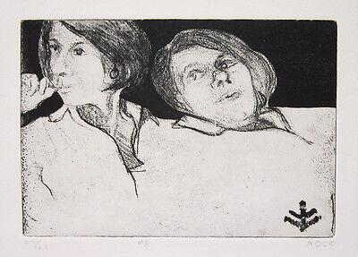 RICHARD DIEBENKORN Signed Original 1965 Aquatint/Soft Ground Etching, Ed. of 25
